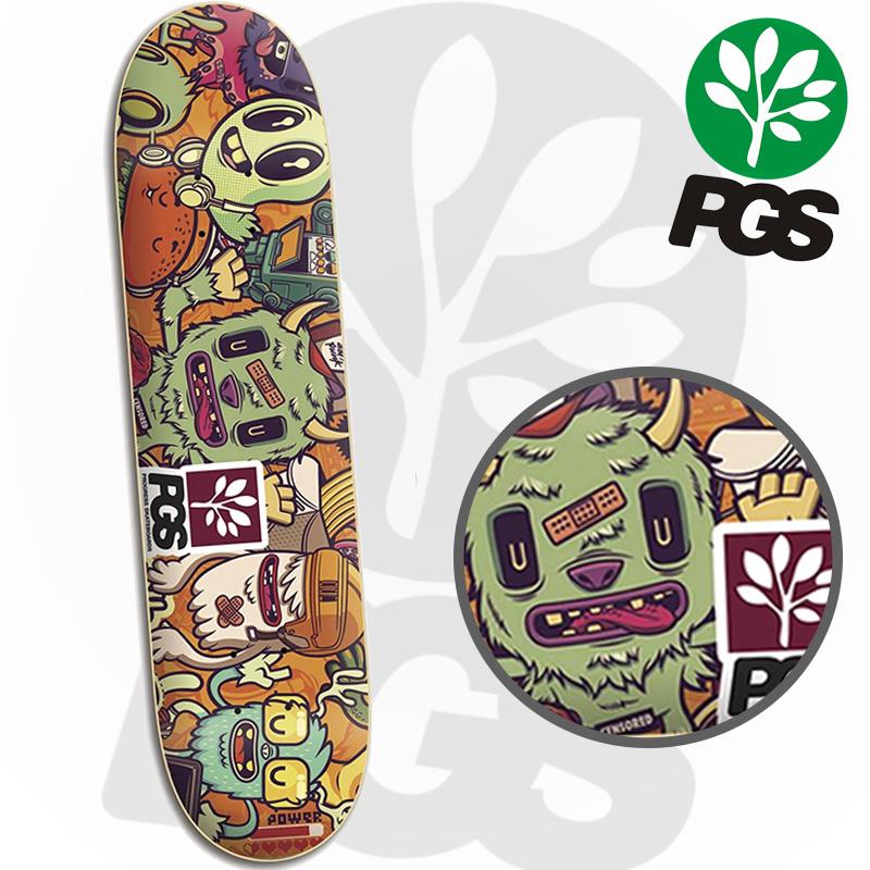 Skate Montado Profissional com shape Monsters PGS