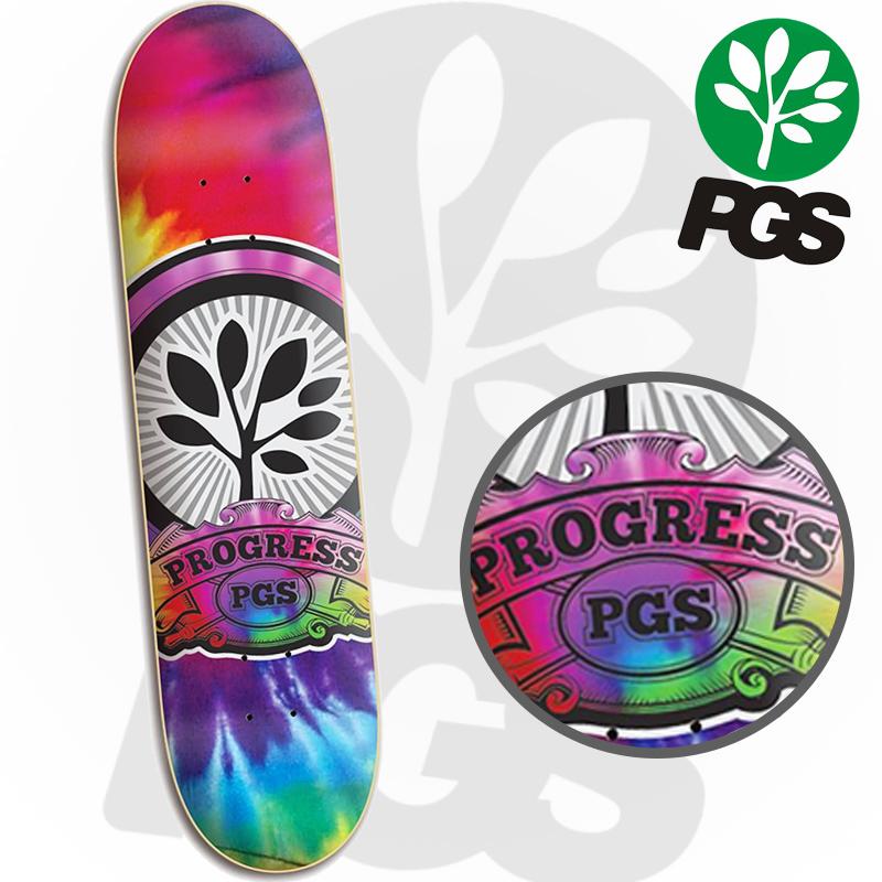Skate Montado Profissional com shape Tie-Dye PGS