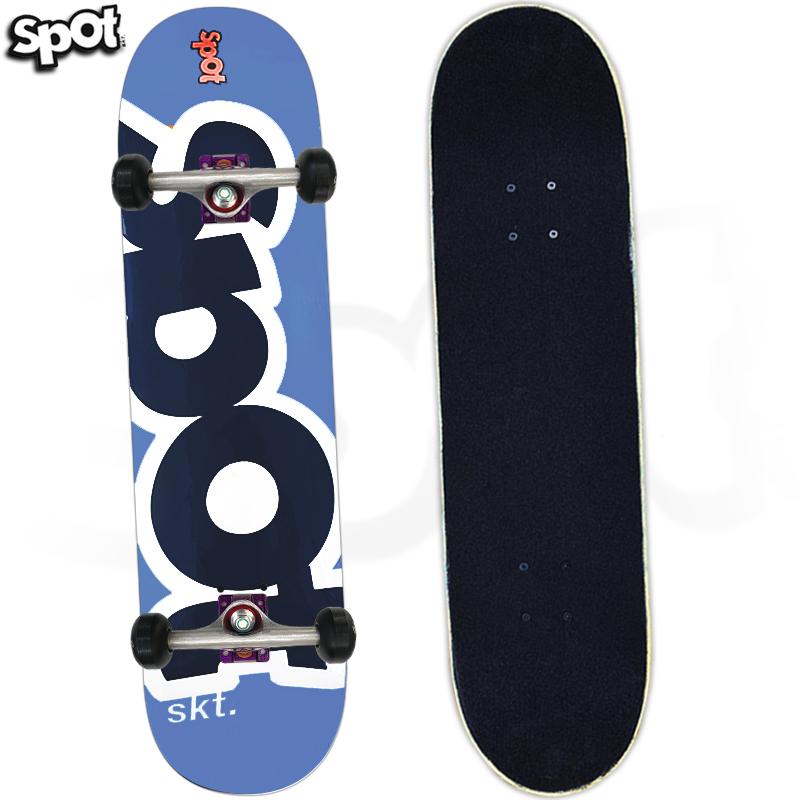 Skate Montado Spot Colors Azul 8.0