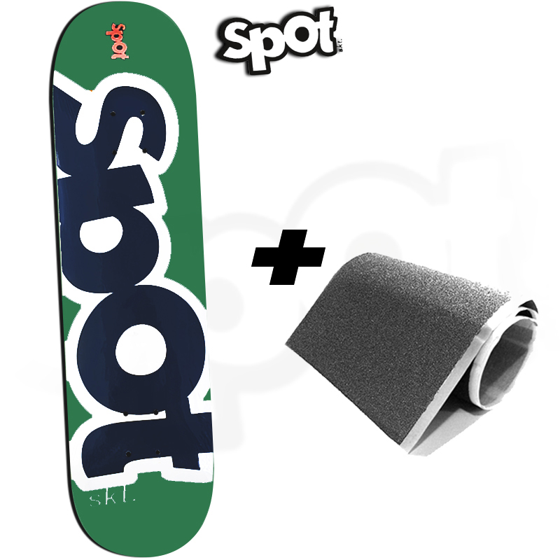 Skate Semiprofissional Montado Spot Colors Verde 8.0