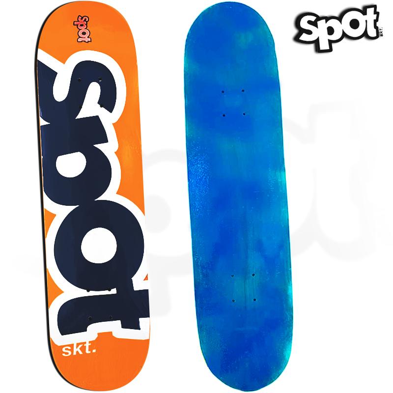 Skate Profissional Spot Colors Laranja e Azul 8.0