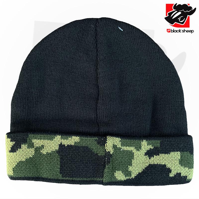 Toca/Gorro Black Sheep preta/camuflado Verde