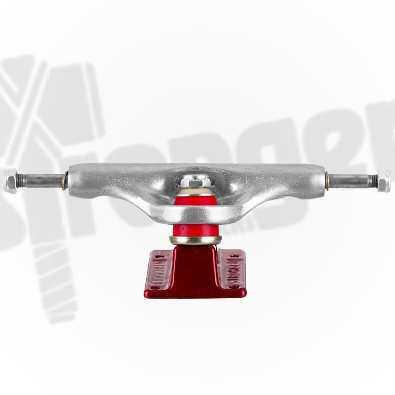 Truck Stronger 139mm Hollow Profissional - Vermelho/Prata