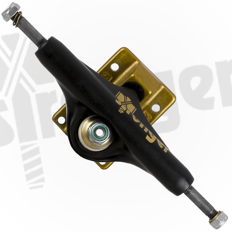 Truck Stronger 149mm Hollow Profissional - Preto com base dourada