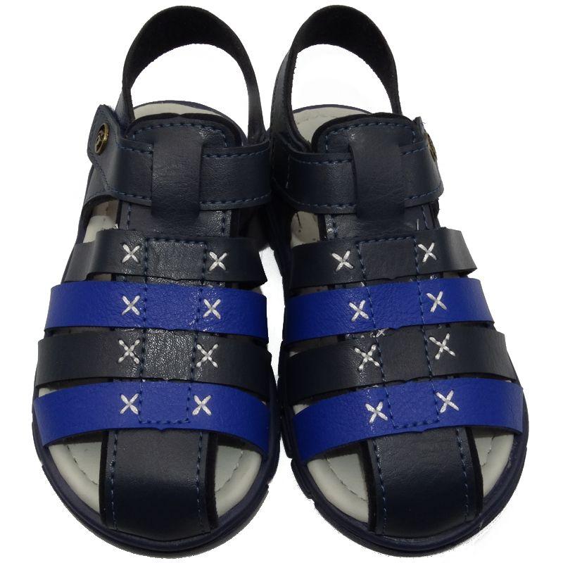 Sandália Infantil Ortopasso Anatômica Menino Azul Marinho
