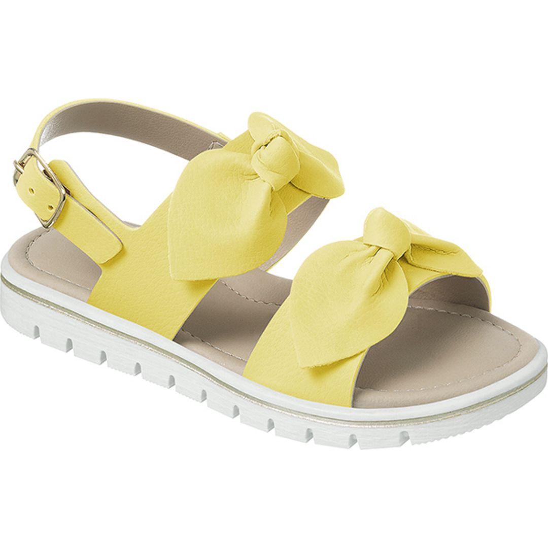 Sandália Infantil Ortopasso Menina Cinderela Amarelo