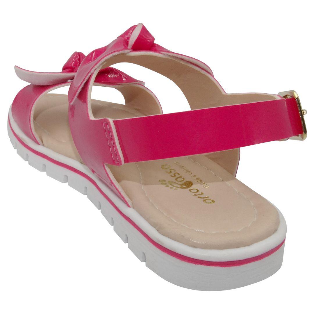 Sandália Infantil Ortopasso Menina Cinderela Pink