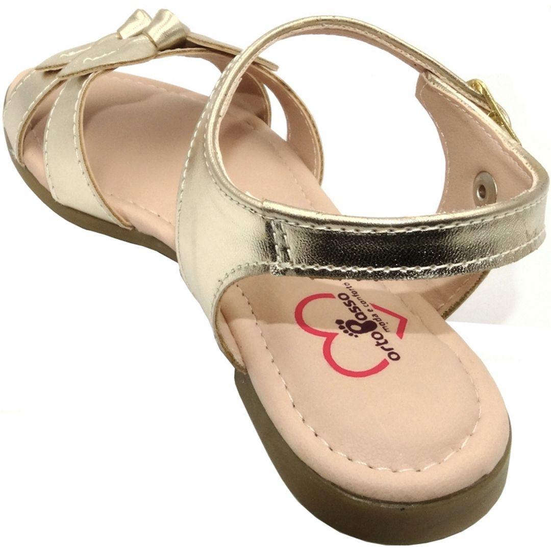 Sandália Infantil Ortopasso Summer Menina Dourado