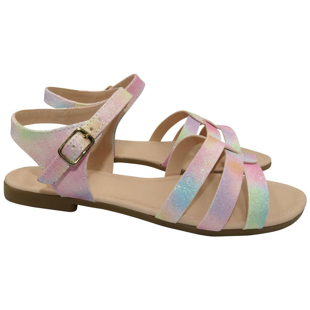 Sandália Infantil Ortopasso Summer Menina Tie Dye Rosa Colorido