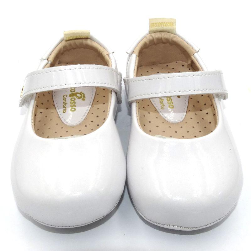Sapatilha Infantil Ortopasso Prime Menina Branco