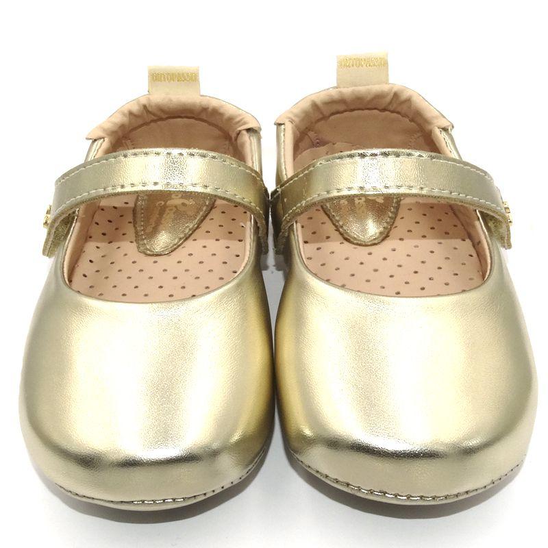 Sapatilha Infantil Ortopasso Prime Menina Dourado Light