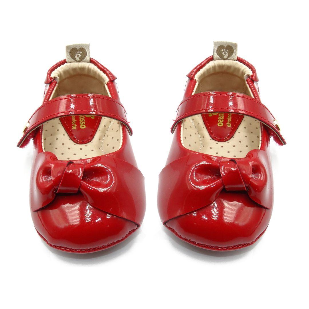 Sapatinha Infantil Ortopasso Prime Menina Vermelha