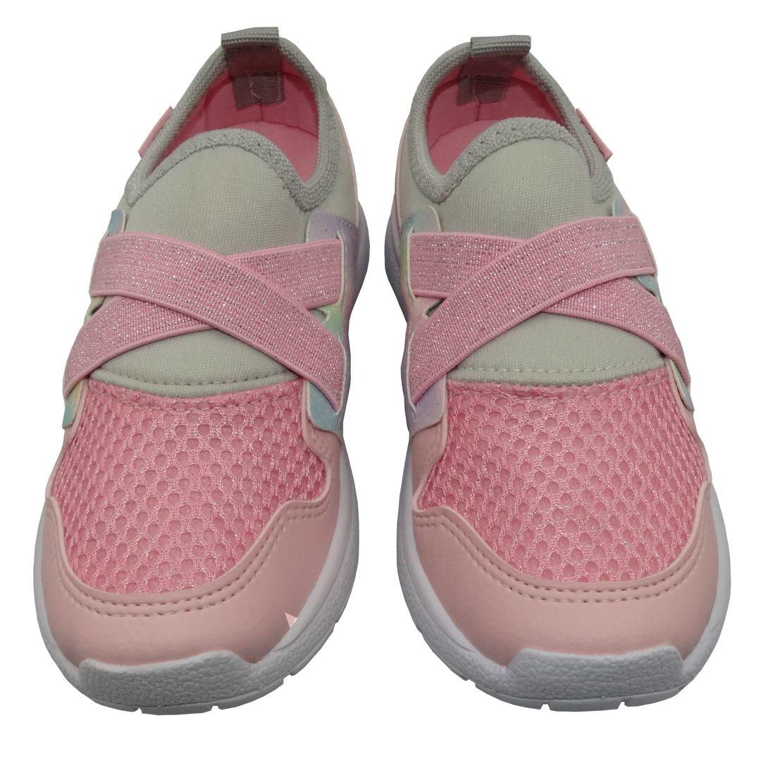 Tênis Infantil Ortopasso Action Menina Tie Dye Rosa Colorido