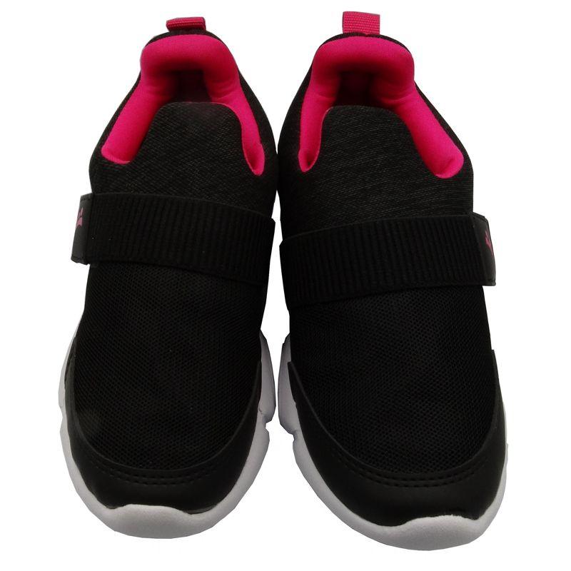 Tênis Infantil Ortopasso Flex Menina Preto Pink