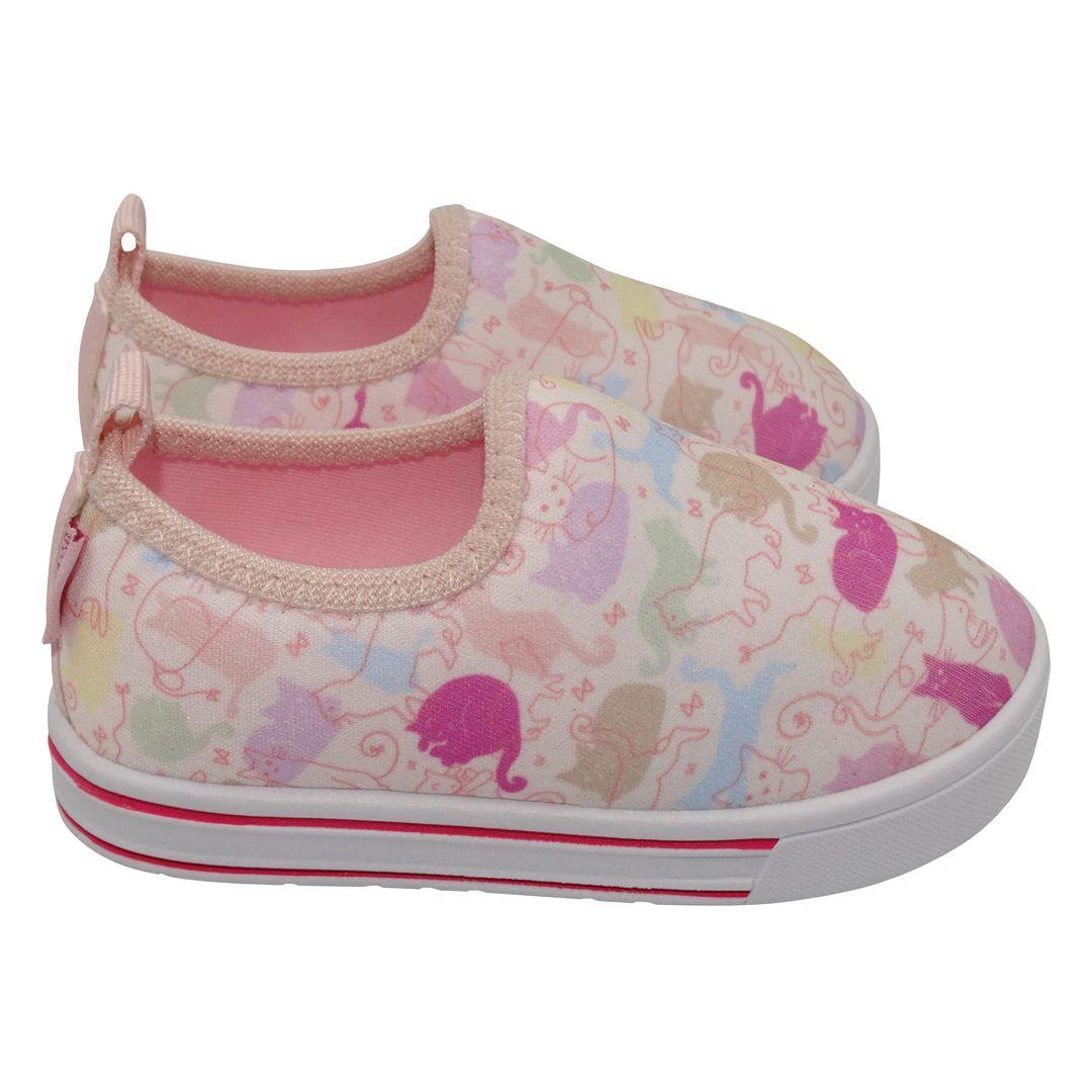 Tênis Infantil Ortopasso Happy Menina Rosa Colorido