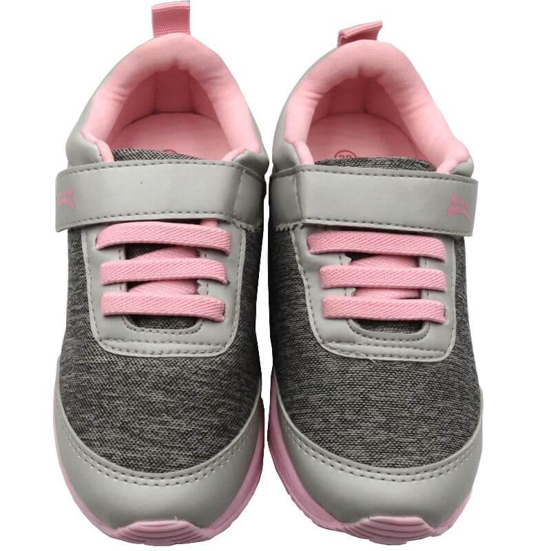 Tênis Infantil Ortopasso Jogging Menina Cinza Rosa