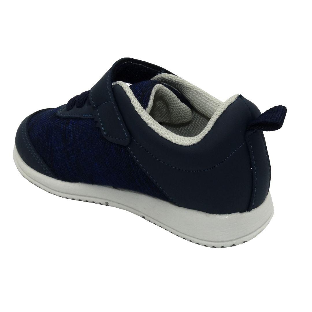 Tênis Infantil Ortopasso Jogging Menino Azul Marinho