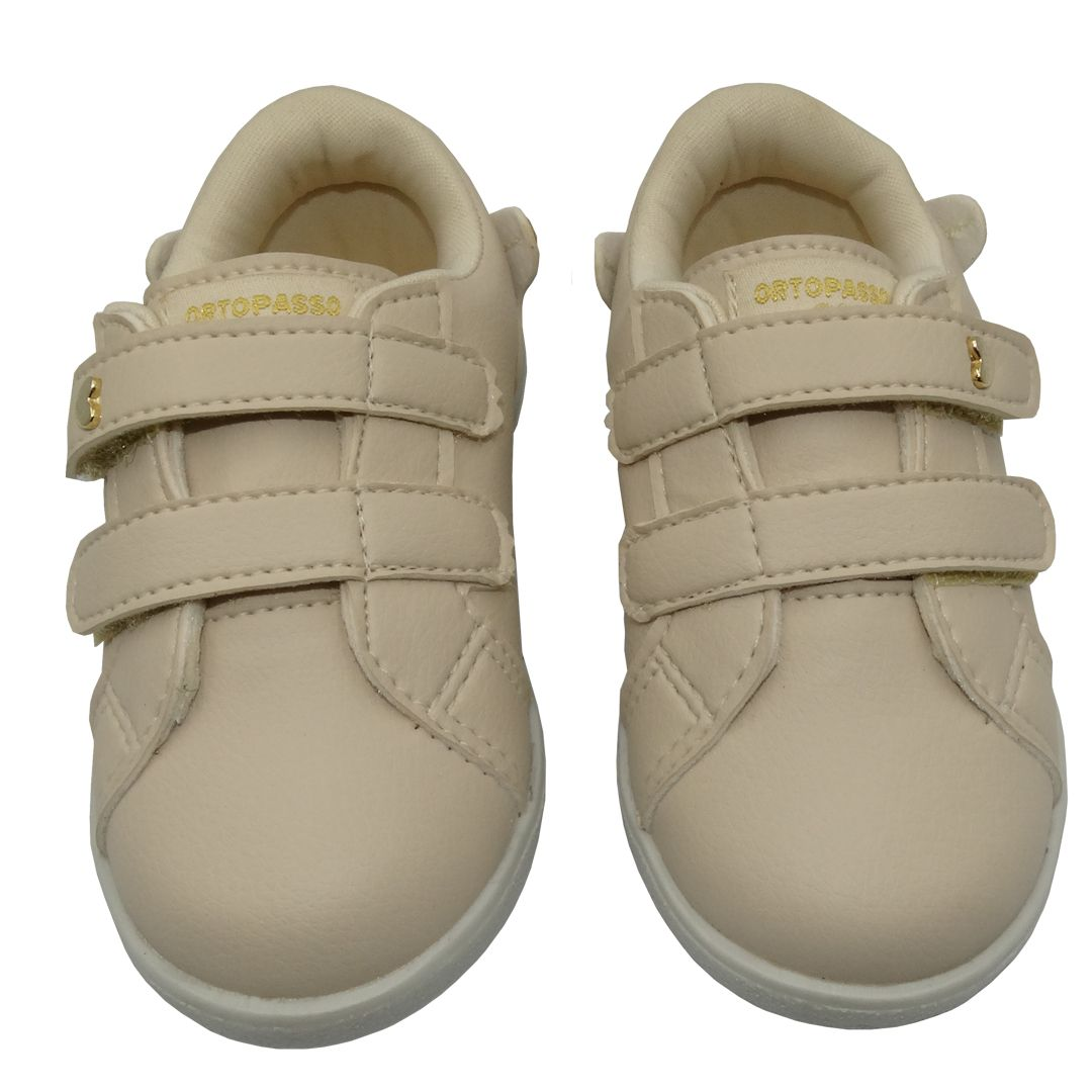 Tênis Infantil Ortopasso Minions Menina Bege