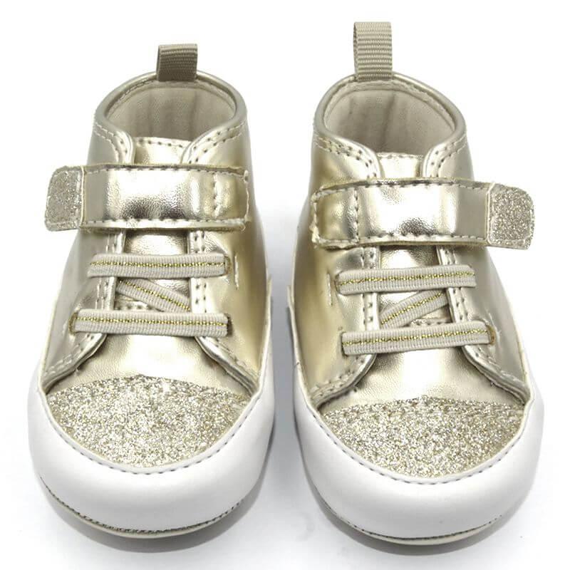 Tênis Infantil Ortopasso Prime Menina Dourado
