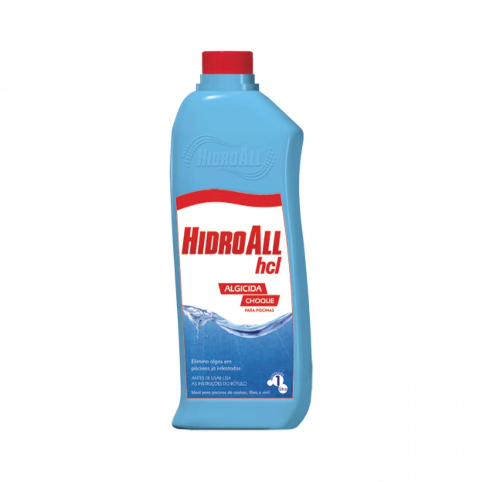 Algicida choque Hidroall HCL 1 Litro