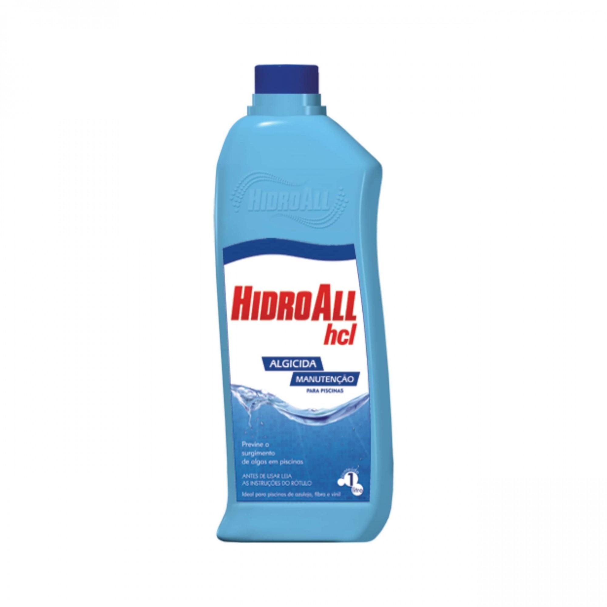 Algicida Manutenção HCL Hidroall 1 Litro