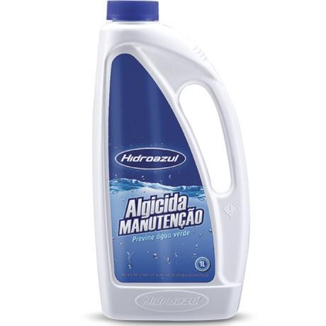 Algicida manutenção Hidroazul 1 litros para piscinas