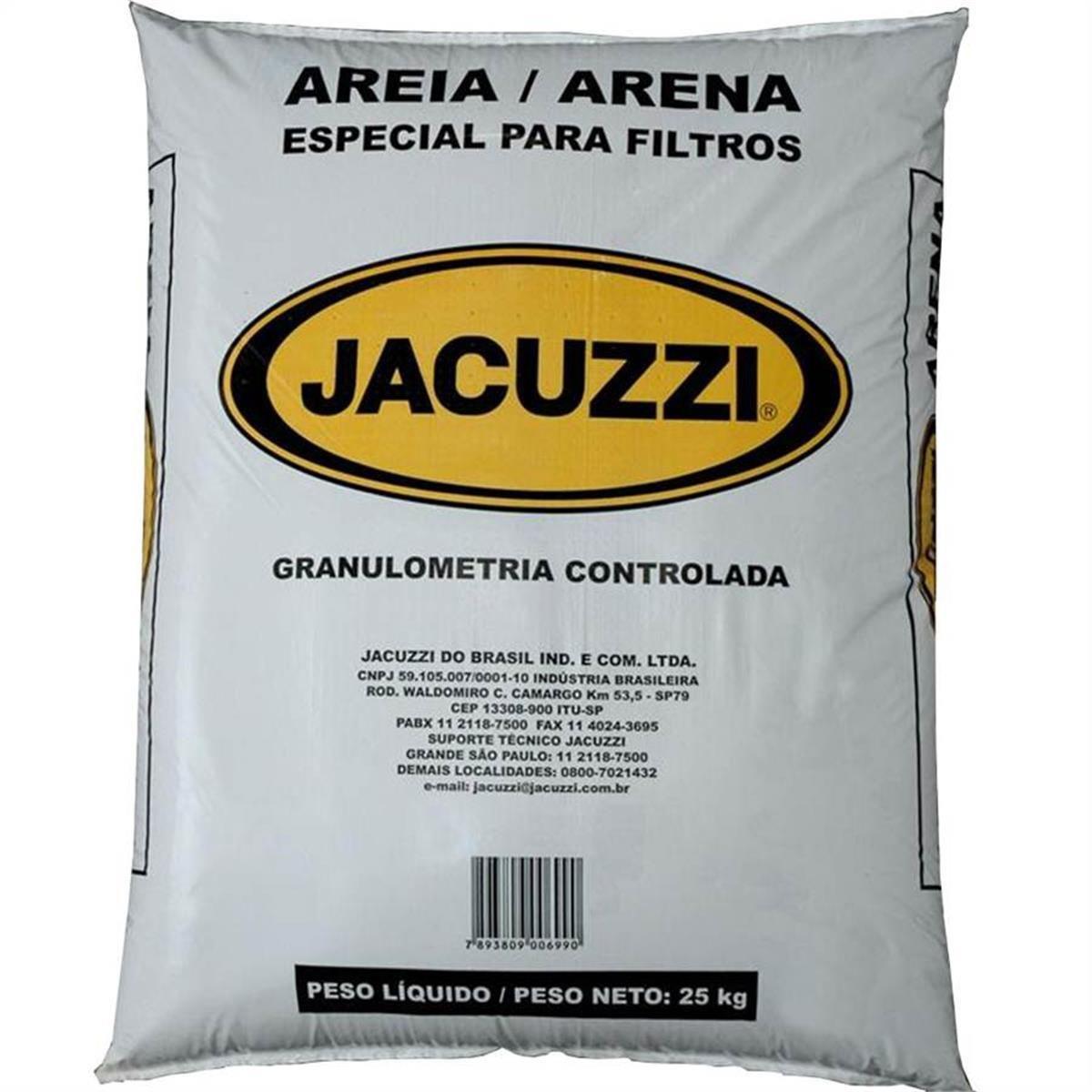 Areia para Filtros de Piscina Jacuzzi 25kg