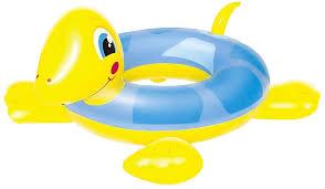 Boia Circular Tartaruga Infantil  Amarela - Belfix