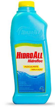 Clarificante Hidrofloc Hidroall Tripla Ação 1 litro para piscinas