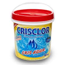 Cloro CrisClor Cris Agua Dicloro Estabilizado balde 10kg para piscinas