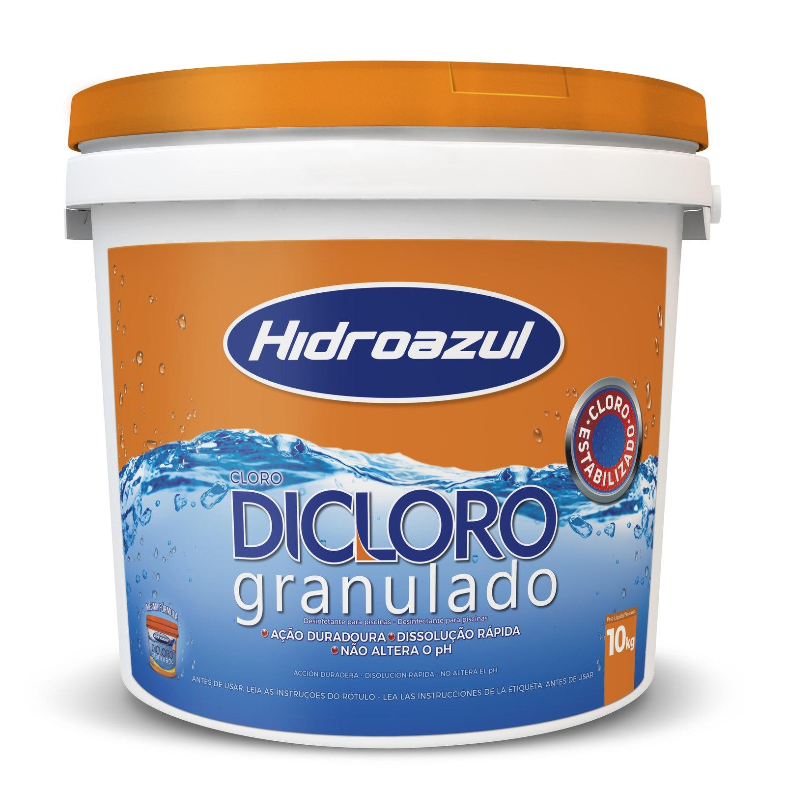 Cloro Dicloro Estabilizado Hidroazul  balde 10kg