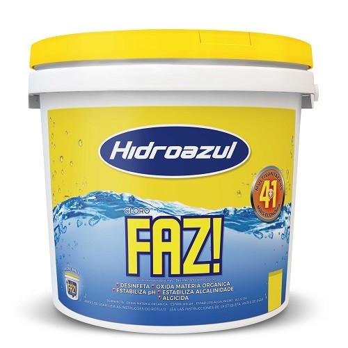 Cloro Faz Hidroazul Granulado 2.5 kg 4+1 para piscinas