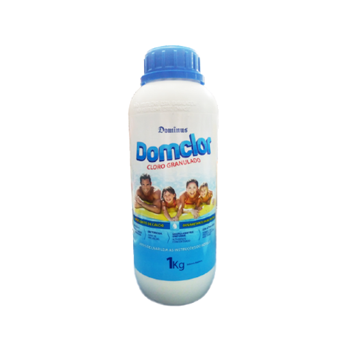 Cloro Granulado Domclor 1 kg  Hipoclorito de Sódio 65% para piscinas