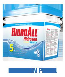 Cloro Granulado Hidroall Hidrosan Penta Balde 10kg para piscinas