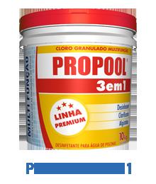 Cloro Granulado Hidroall Propool, 3x1 Balde 10kg para piscinas