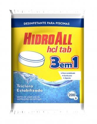 Pastilha Cloro Hidroall Hcl 3x1 Tablete 200grs
