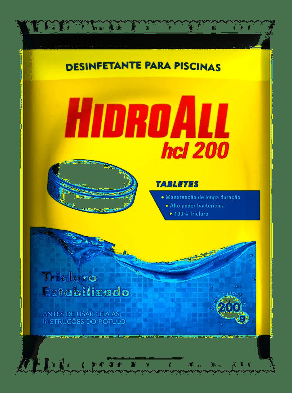 Cloro Hidroall Hcl Tablete 200grs