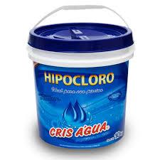 Cloro Hipocloro Hipoclorito de Cálcio 65%  Cris Agua balde 10kg para piscinas