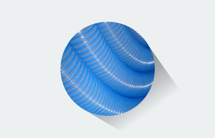 Mangueira para piscina Fortyflex 38 mm Azul/ Transparente - 5 Metros