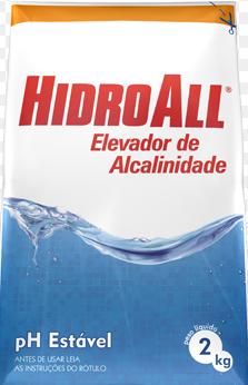 Elevador de Alcalinidade Hidroall - PH Estável - 2Kg
