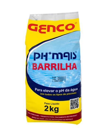 Elevador de ph (Barrilha) Genco PH+ Mais - 2kg - (Alvará PC 3.300/21)