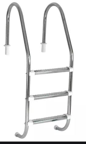 Escada Tradicional 1 1/2 - Três Degraus Inox - Sodramar