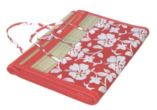 Esteira Sacola Floral vermelha - Belfix