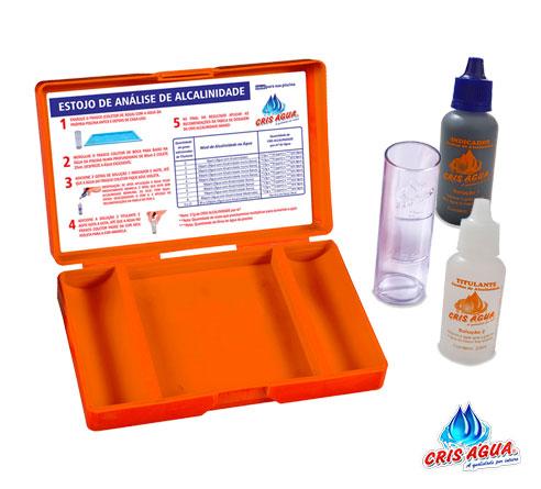 Estojo de Análise de Alcalinidade kit Cris agua