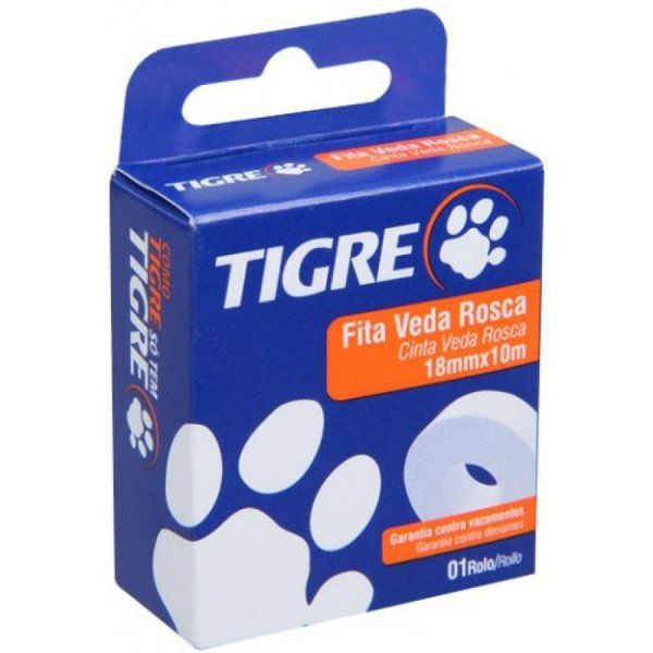 Fita Veda Rosca (18mm x 10m) - Tigre