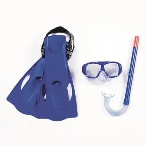 Kit Snorkel Com Máscara e pés de pato  Azul - Belfix