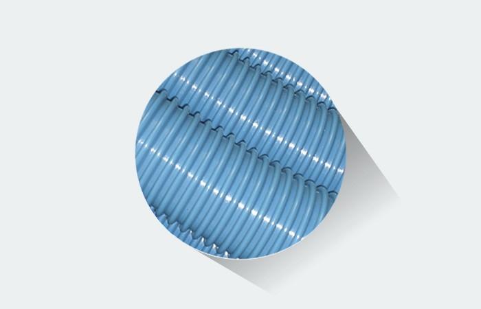 Mangueira para piscina Fortyflex 38 mm Azul - 3 Metros