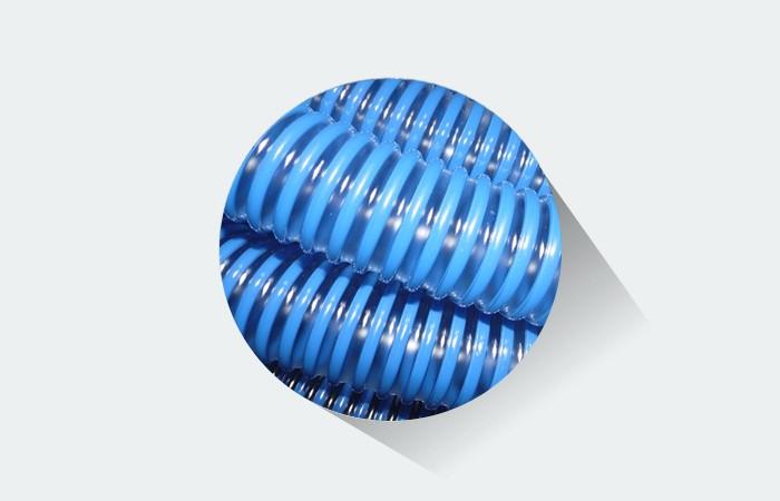 Mangueira para piscina  Fortyflex  38 mm Azul Diamante 15 Metros