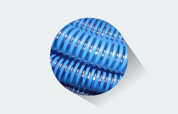 Mangueira para piscina  Fortyflex  38 mm Azul Diamante 6 Metros