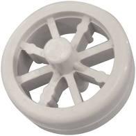 Rolete plástico completo para aspirador de piscinas com 8 rodas sodramar